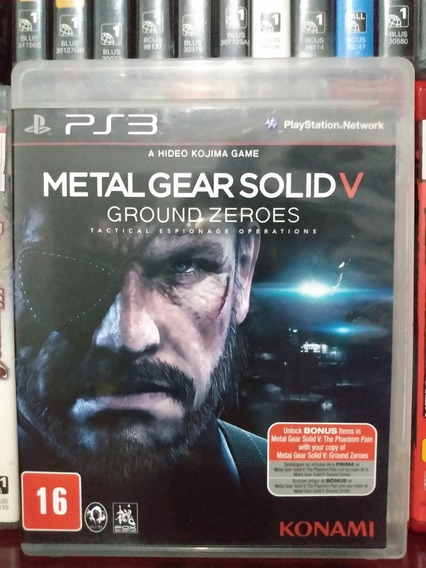 Metal Gear Solid 5 Ground Zeroes Ps3 Parcelamento Sem Juros