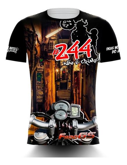 Camiseta 244 Não É Crime Cabo Enrolado - Bmw F800
