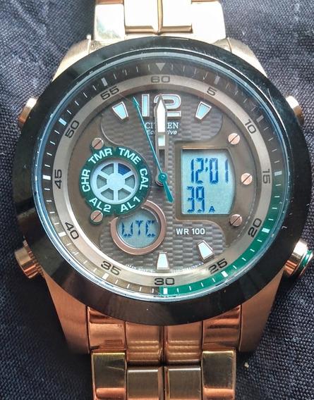 Relógio Citizen Promaster Eco Drive Jz1002-56w Gomos Extras