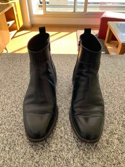 Zapatos Botas Cuero Negro Talle 41 Ay Not Dead, Poco Uso!!!