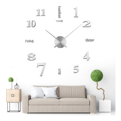 Imagen 1 de 9 de Reloj De Pared 3d Moderno Sin Marco Para Bricolaje