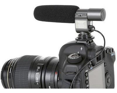 Microfone Profissional 01 108 Stereo Dsrl Camera Nikon Canon