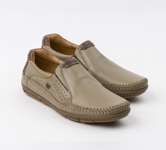 Zapato Ringo Cuero Cocido Nautico Hombre Zapat Pancha Bilgax