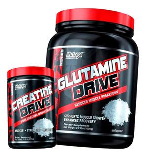 Glutamine Drive 1kg + Creatina Drive 300g - Nutrex