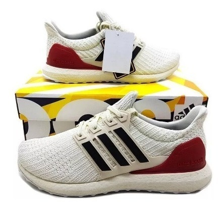 Tênis adidas Ultraboost Creme Vermelho Unissex Frete Grátis