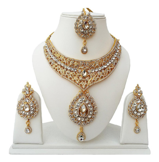 Joia Indiana Bollywood Designer Kundan Tikka Kit 3pcs #51