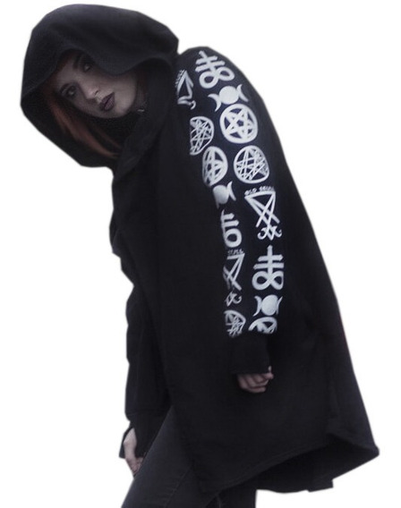 Cardigan Symbols - Pagan Witch Goth Punk Mujer Xl