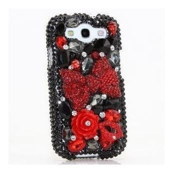 Samsung Galaxy S4 I9500 Luxury Bling En 3d - Gorgeous Red Bo