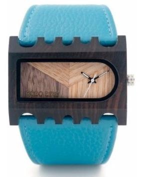 Relógio Feminino Bambu Analóg Bobo Bird N23 Azul Lançamento!