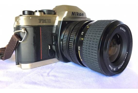 Câmera Nikon Fm10 - Lente 35~70mm