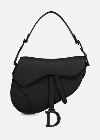 Bolsa Dior Saddle Preta Couro