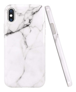 Funda Marmol iPhone 6 S 7 8 Plus Xs Max Proteccion Tpu Flex