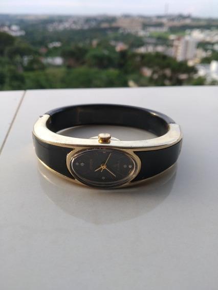 Único Citizen Relógio Bracelete Dourado Com Brilhantes Corda