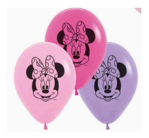 Globos R-12 Imp Minnie Mouse F Surt X 10 - Sempertex