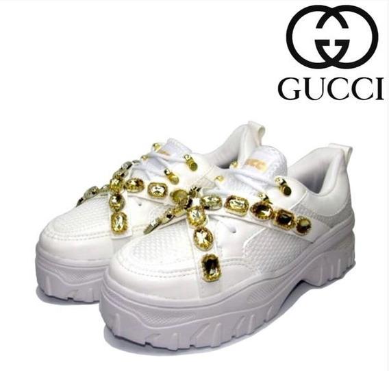 Tênis Gucci Pedraria Flashtrek 2020 Promoçao 40 De Desconto