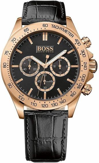Relógio Hugo Boss Cronógrafo Couro Rose Masculino 1513179