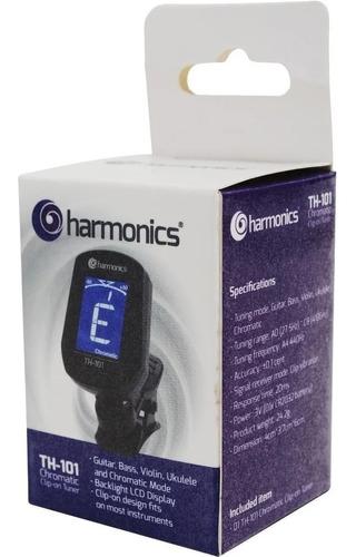 Imagem 1 de 5 de Afinador Digital Clip Cromático Th-101 Harmonics