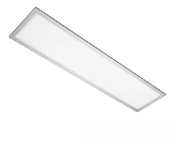 Painel Plafon Luminaria Led 120x30 Embutir Branco Frio Bivolt 48w