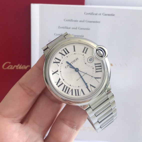 Cartier Ballon Bleu White 42mm 2018 Completo Impecável