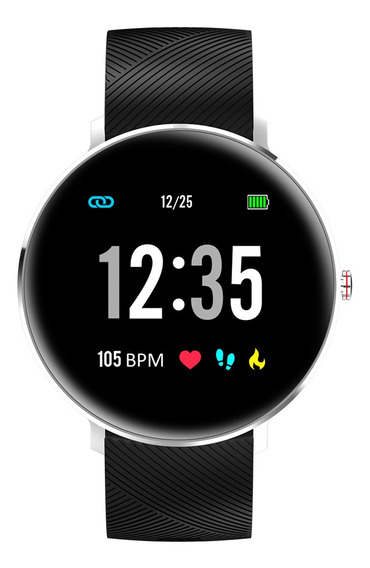 Reloj Inteligente Microwear L10 D/silicona, Pantalla Redonda