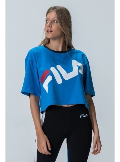 Blusa Femenina Fila Cropped Letter Big
