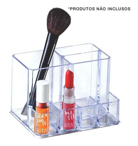 Porta Maquiagem Com 7 Divisões