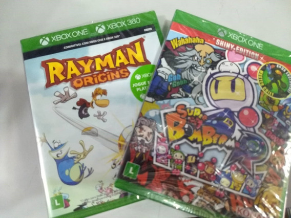 Bomberman + Rayman Origins Xbox One Mídia Física