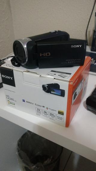 Filmadora Sony Hdr-cx240 54x Zoom Full Hd 1080p (semi-nova)