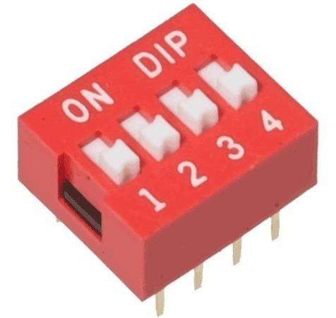 Chave Seletora Dip Switch 4 Vias 180 Graus Arduino Pic Arm