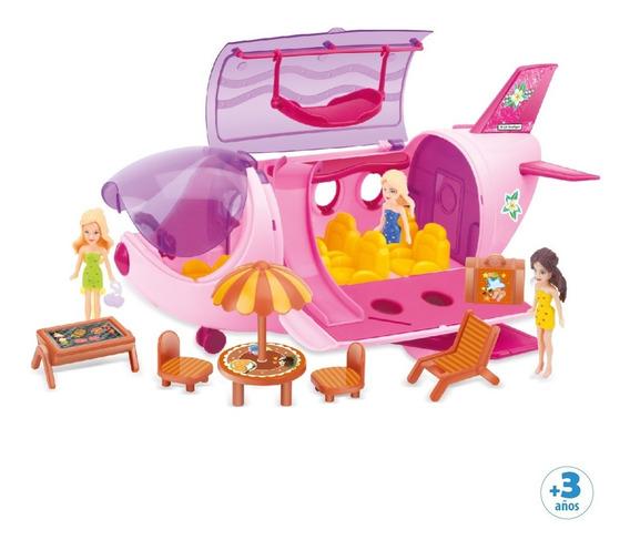 Avión Para Muñecas Con Accesorios