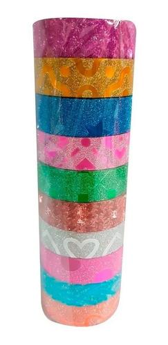 Washi Tape Cinta Adhesiva Decorativa Paquete X 10u Surtidas