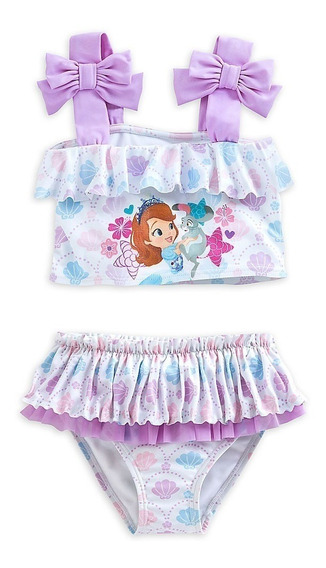 Traje De Baño Princesa Sofia Disney Store Talla 7/8 Usa