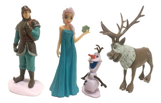 Frozen Disney Muñecos X 4 Elsa Olaf Kristoff Sven 9 Cm Alto