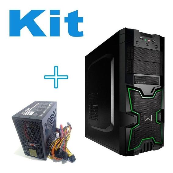Gabinete De Computador Gamer + Fonte Para Pc Boa E Barata