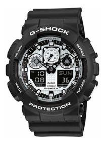 Relógio Casio G-shock Black And White Ga-100bw-1a Original
