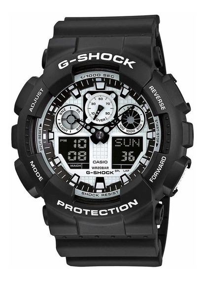 Relógio Casio G-shock Black And White Ga-100bw-1a Original
