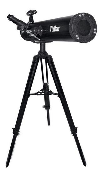 Telescópio Refletor Lente 76mm Ampliação Até 525x E Tripé