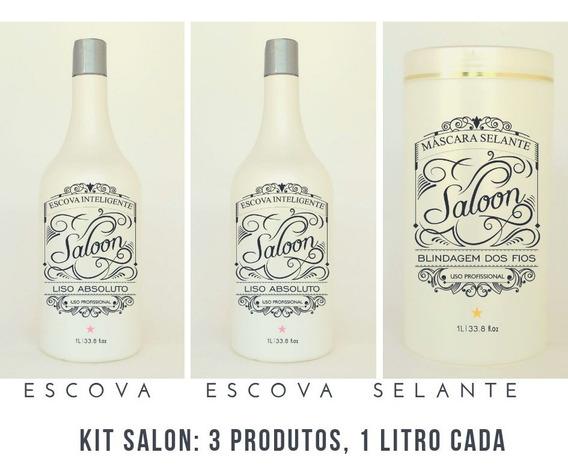 Kit Plástica Dos Fios Salon 3 Produtos 1 Litro