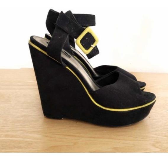 Sandalias Forever 21 - Color Negro - Plataforma Talle 35