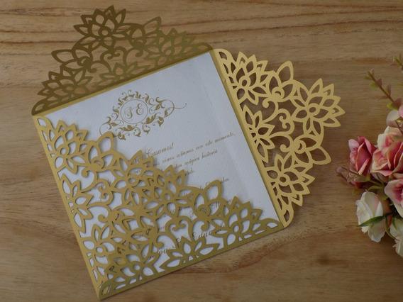 Tarjeta Calada Dorada Perlado Invitacion De Boda Color Oro