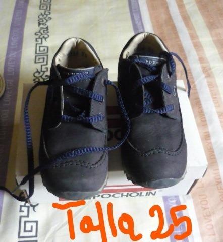 Zapatos Pocholin De Niño Talla 25