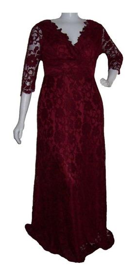 Vestido Festa - Casamento - Plus Size - Marsala - Madrinha