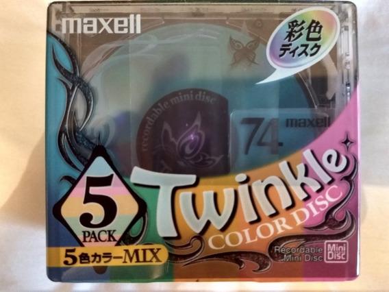 Lote Com 10 Mini Discs Maxell, Novo, Lacrado Made In Japan