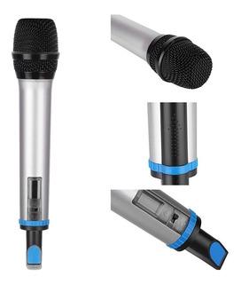Set 2 Microfonos Inalambricos Vhf Dbmic09 50mt Alcance