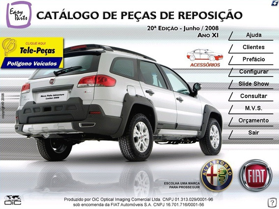 Catálogo Eletrônico Peças Fiat 2008 Stilo 2003 A 2007
