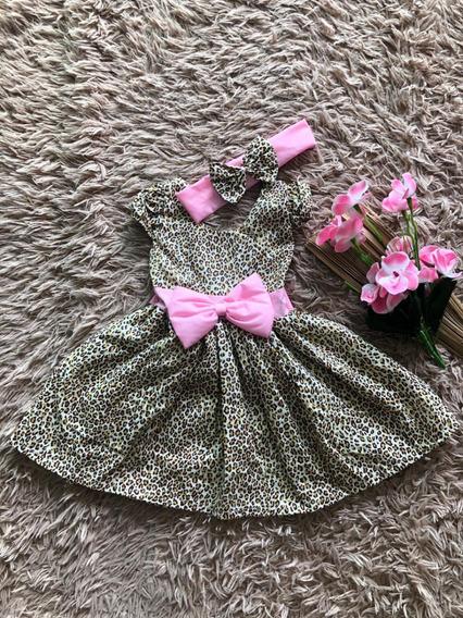 Vestido Luxo Rn A 4 Meses Renda Baby Menina Infantil