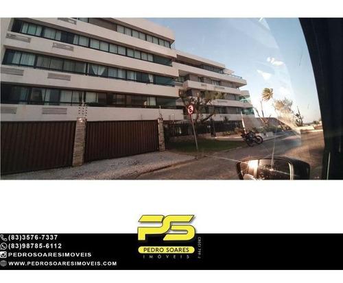 (mobiliado) Apartamento Com 4 Dormitórios À Venda, 250 M² Por R$ 1.500.000 - Bessa - João Pessoa/pb - Ap4612