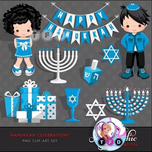 Kit Imprimible Hanukkah Imagenes Png Clipart Celeste