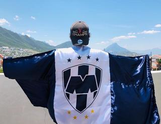 Bandera De Cuerpo Rayados De Monterrey, Producto Oficial