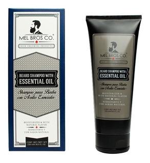 Mel Bros Co Shampoo Para Barba Con Acietes Esenciales Natura